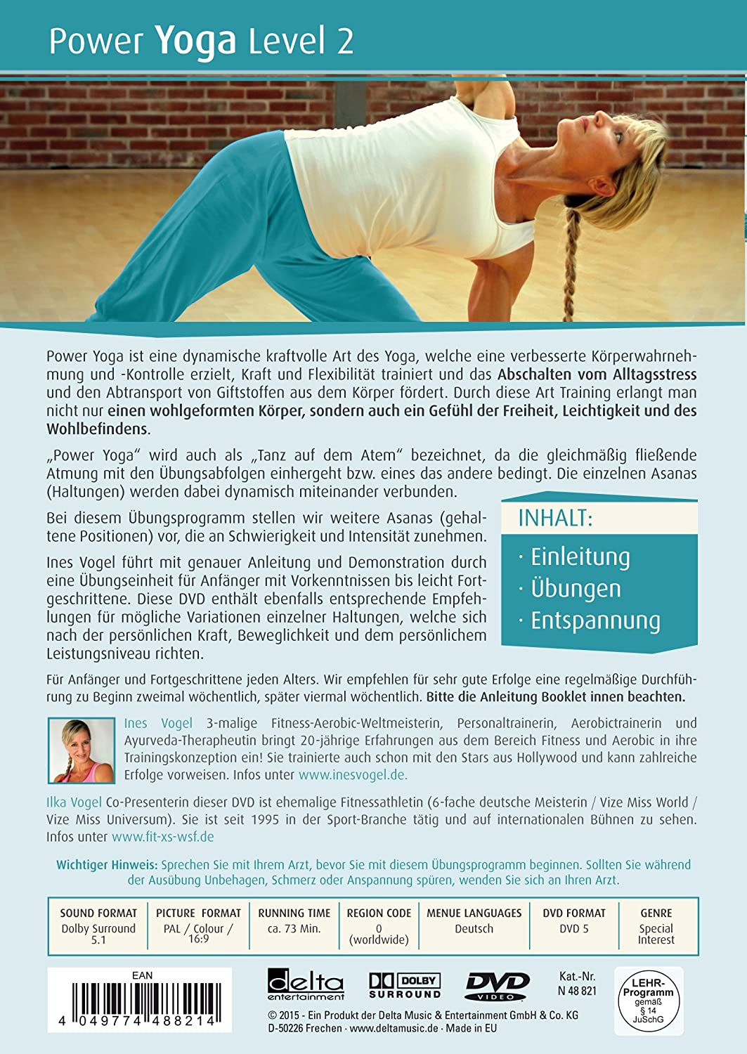 Power Yoga Level 2 [Alemania] [DVD]: Amazon.es: Ines Vogel ...