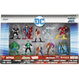 Jada Die Cast Nano MetalFigs DC Comic Figures 10 Pack Collector's Set:  Superman, Killer Croc, Green Lantern, Wonder Woman, The Flash, Mr. Freeze, Two-Face, Metamorpho, Martian Manhunter, Batman