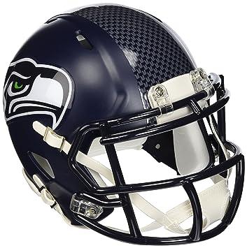 Riddell - Réplica de casco de fútbol americano, diseño de los Seattle Seahawks