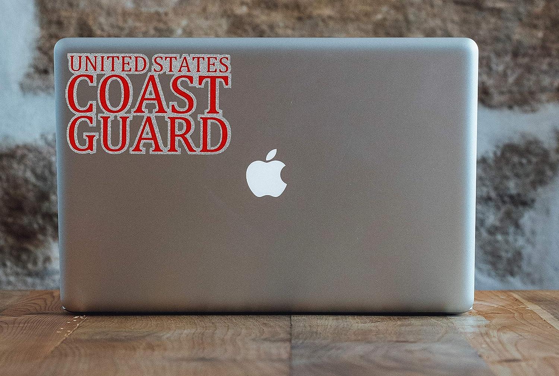 etc. Made in USA Bumper BriCals Vinyl Decals US Coast Guard Military Car /& Truck Window Decal Sticker Red /& Silver Metallic Glitter Vinyl 5.5x 3.625 5 Year Outdoor Bottle Laptop for Windows