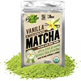 Vanilla Organic Matcha Green Tea Powder - 80 Servings, 8 oz - 2 Ingredients, Natural Flavored Instant Tea for Drinking, Smoothies or Baking, Grade A Matcha