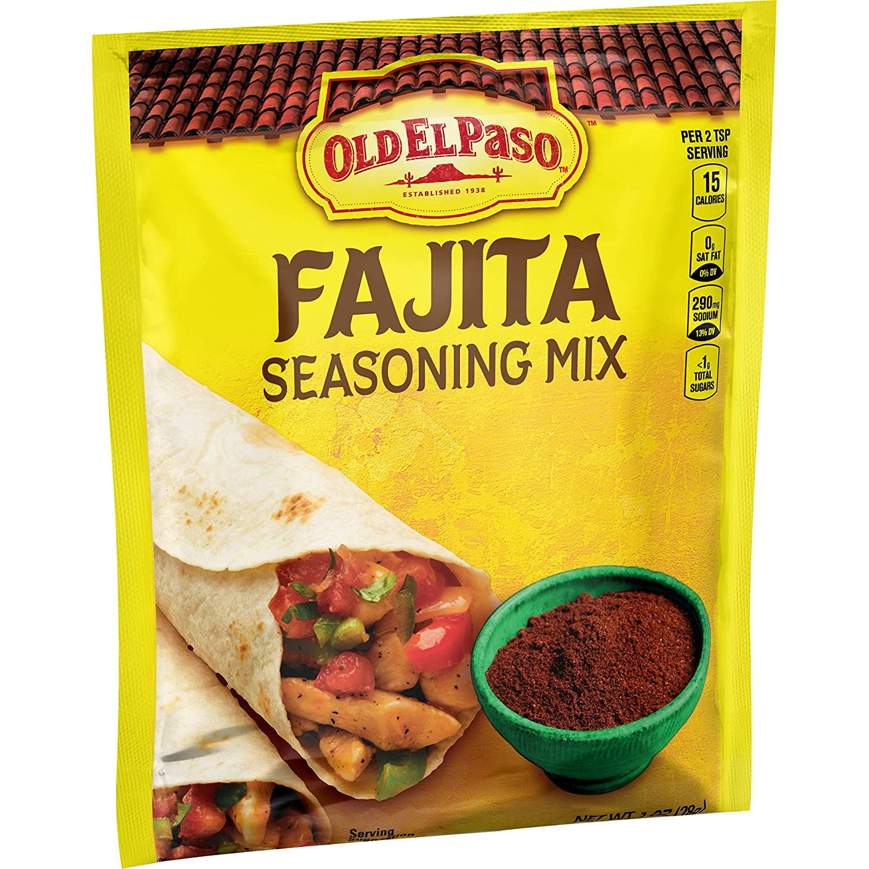 Amazon Com Old El Paso Fajita Seasoning 1 Oz Packet Grocery Gourmet Food