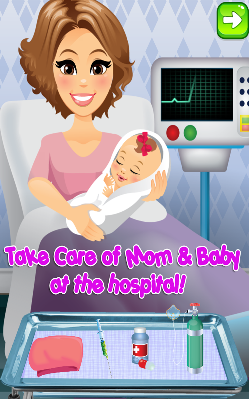 Amazon.com: My Newborn Baby Maternity Nurse - Pregnancy Games Kids ...
