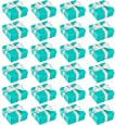 Wedding Gift Boxes - 24 Pack Candy Favor Boxes, Small Treat Boxes, Perfect for Guest Favors, Anniversary, Proposal and Engagement Party, Turquoise, 3.7 x 3.7 x 1.6 Inches