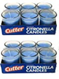 Cutter Citronella Candles Set (12-Pack) Natural Insect Repellent Off | Blue, Scented | Deters Bugs, Flying Insects, Mosquitos | Child and Pet Safe, Cruelty Free | Patio, Backyard, Outdoor Use
