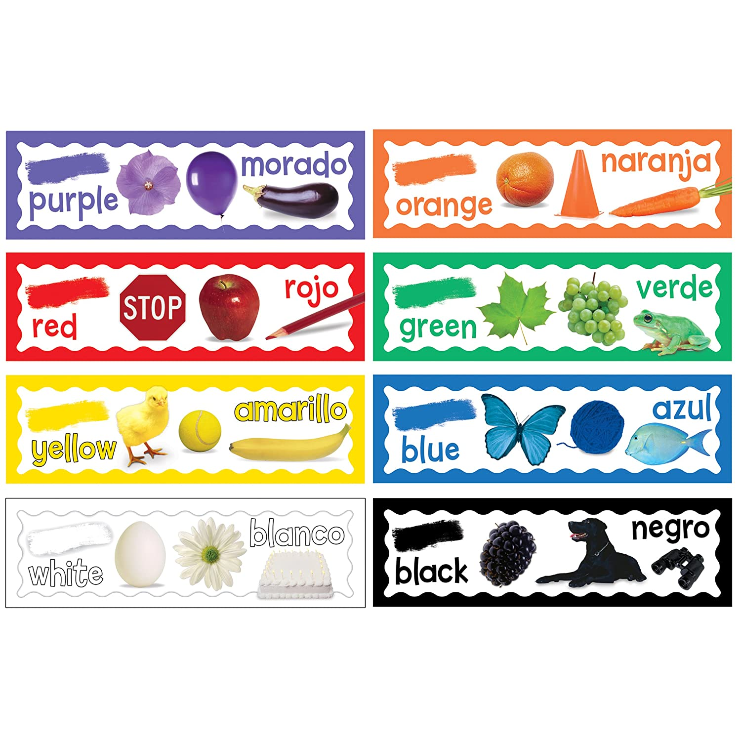 Eureka Back to School Classroom Decorations for Learning Colors, 6.5''x 0.1''x 26'', 8 pc