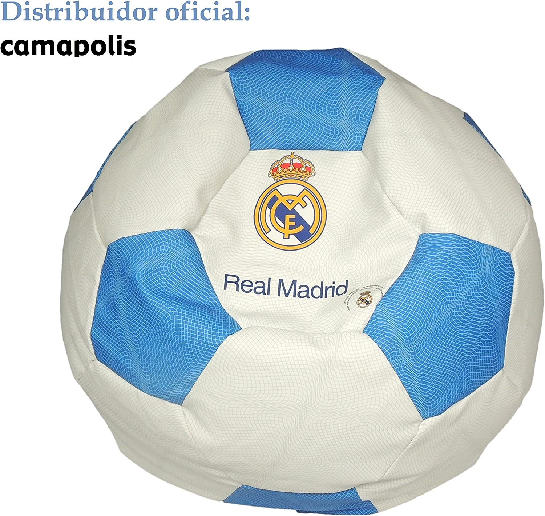 SEASONS Camapolis Puff Oficial Real Madrid (Blanco): Amazon.es: Hogar