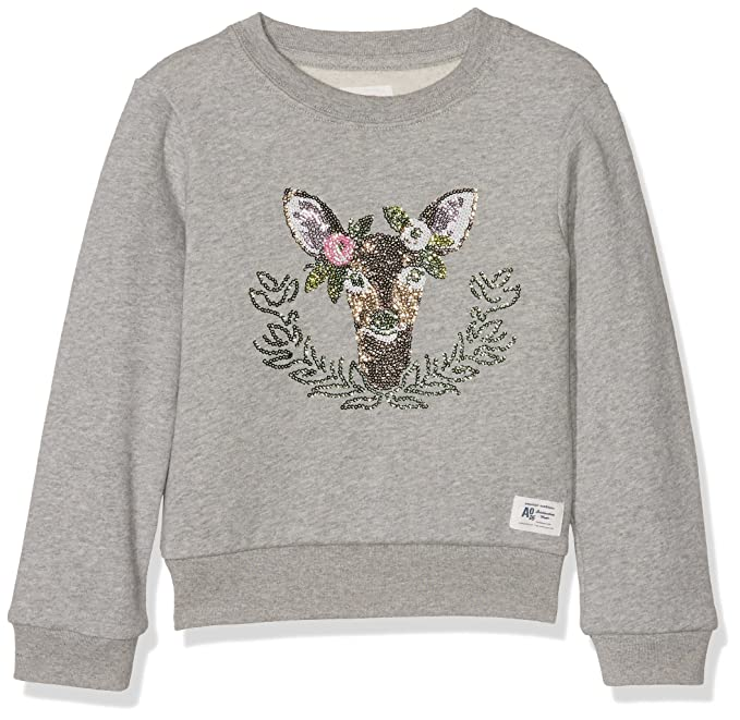 AO 76 c-Neck Sweater Deer, Sudadera para Niñas, Gris (Heather Oxford 903), 10 años: Amazon.es: Ropa y accesorios