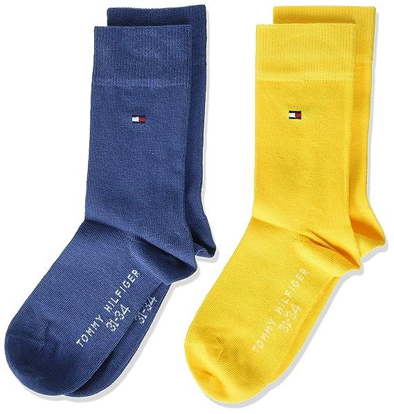 Tommy Hilfiger Children Sock TH Basic 2P, Calcetines para Niños, Multicolor (Blazing Yellow