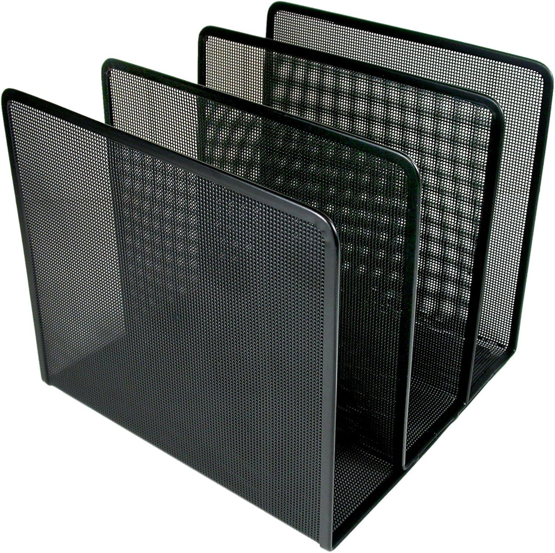 Artistic Contemporary Mesh Metal Desktop File Sorter, Black (ART21009C)