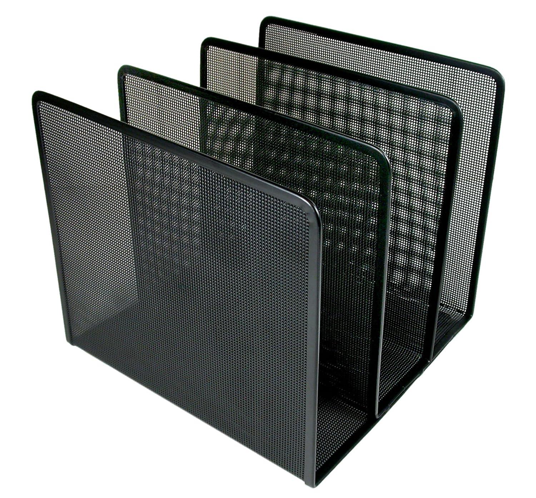 Artistic Contemporary Mesh Metal Desktop File Sorter, Black ART21009C