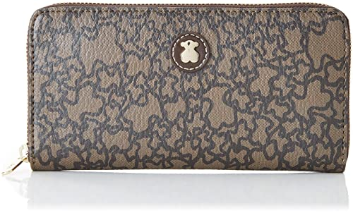 Tous Billetera Mediana Kaos Mini, Cartera para Mujer, Beige (Marrón Met.)
