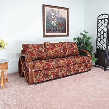 Amazon Com Made In Usa Newton Rattan Sofa Queen Sleeper