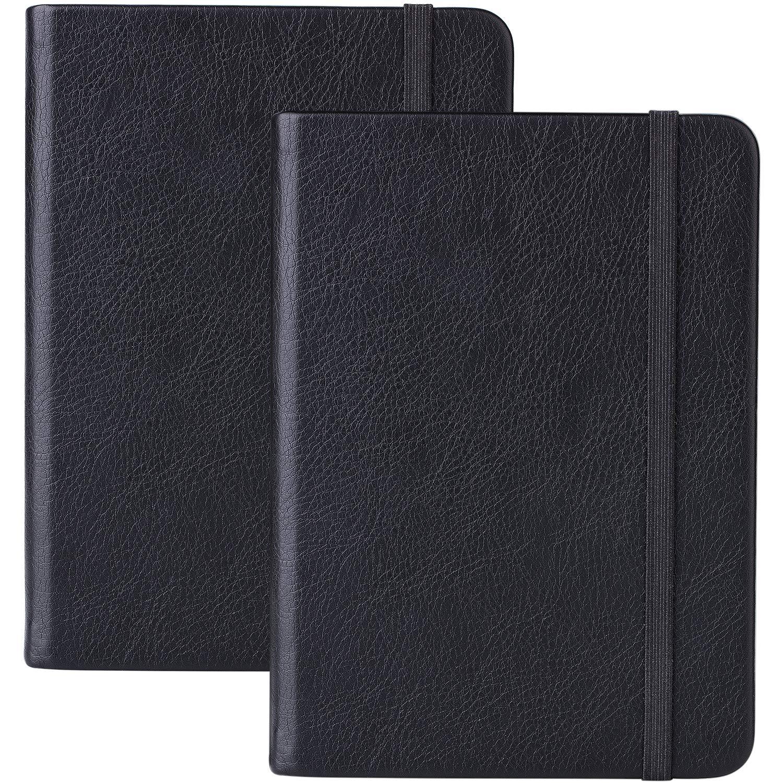 A6 Taccuino/Pocket Notebook - Notebook Soft Cover Esecutivo con Pocket + Divisore Pagina, a Banda, 160 Pagine per Ciascuno, A6, 14,5X10,5 cm Lemome