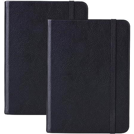 2 Stück Dotted Bullet Journal / A6 Dotted Notizbuch - Premium Dickes Papier Exekutive Hardcover Punktiertes Notizbücher mit P
