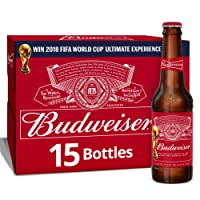 Budweiser Lager Beer Bottle, 15 x 300 ml