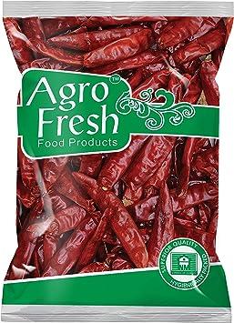 Agro Fresh Premium Guntur Chilly, 500g