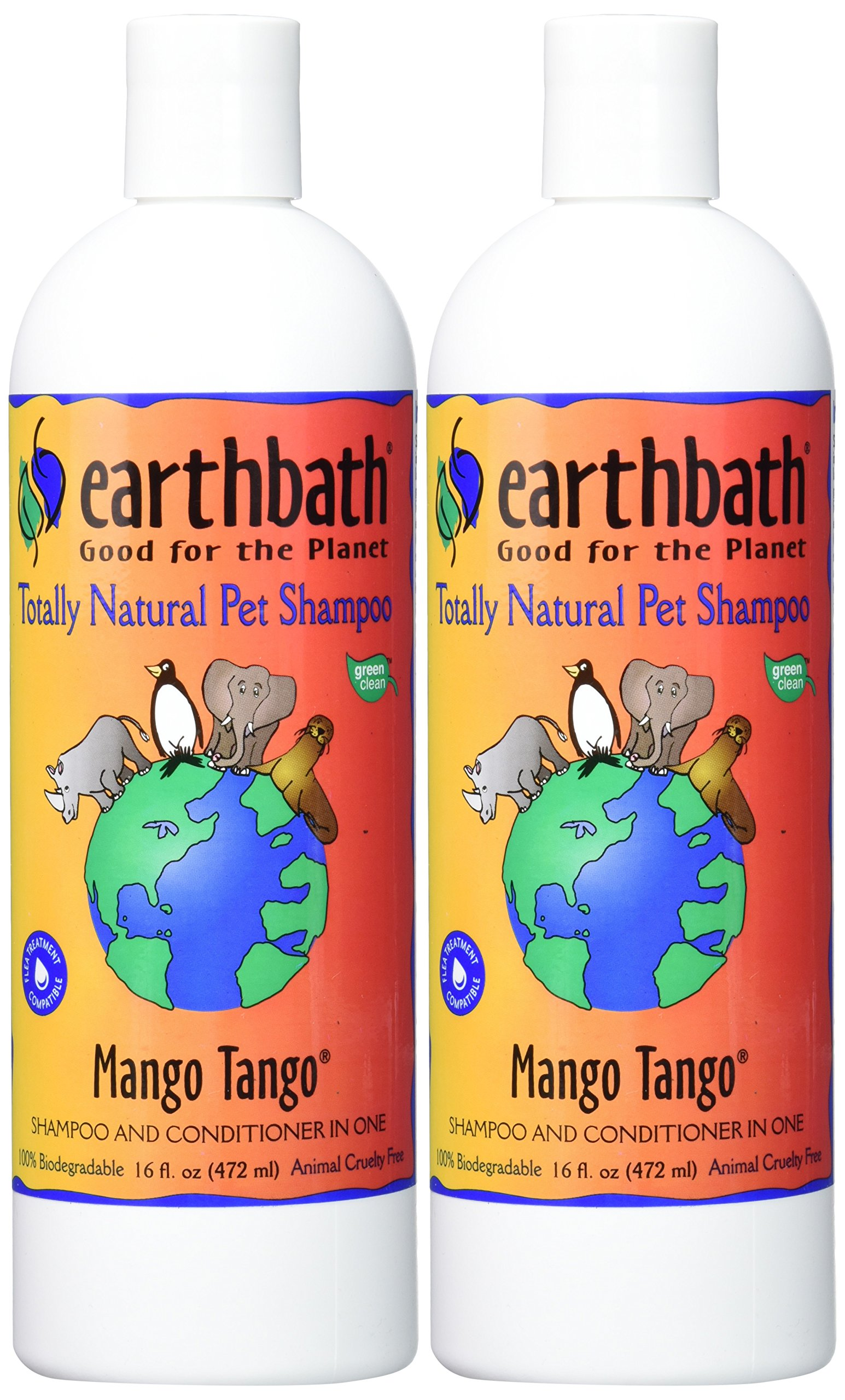 Earthbath Mango Tango 2-in-1 Conditioning Dog & Cat Natural Shampoo 16 oz (2 Pack) by Earthbath (Image #2)