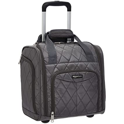 89e584215 AmazonBasics Underseat Luggage, Grey Quilted: Amazon.co.uk: Luggage