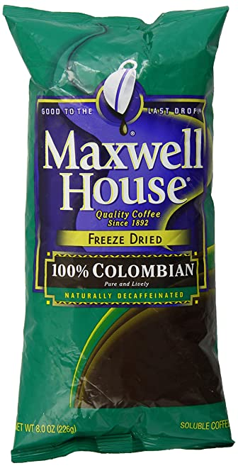 Maxwell House Instant 100% Colombian Decaf Coffee