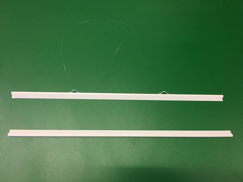 Bacchette appendi-poster con cordoncini trasparenti, per appendere mappe, disegni e poster, colore: bianco, formati: A0, A1, A2, A3, A4, lunghezza: fino a 2 m, A0 Portrait STAS