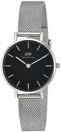 07d58b3df67788 Image Unavailable. Image not available for. Colour: Daniel Wellington  Women's DW00100218 Classic Petite Sterling in Black 28mm Watch