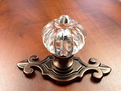 Sonoma Cabinet Hardware Roman Knob Venetian Bronze With Fleur De Lis  Backplate Custom Knobs