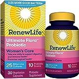 Renew Life #1 Women's Probiotic - Ultimate Flora Probiotic Women's Care, Shelf Stable Probiotic Supplement - 25 Billion - 30 Vegetable Capsules (Packaging May Vary)
