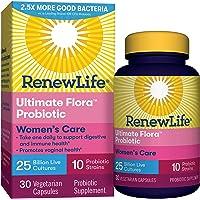 Renew Life #1 Women's Probiotics 25 Billion CFU Guaranteed, 10 Strains,  Shelf Stable...