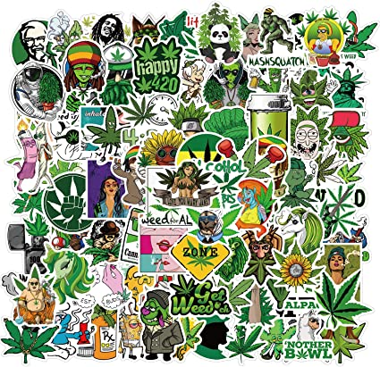 Amazon.com: Weed Stickers Pack Bulk| 100pcs Cute Funny Marijuana Leafs Waterproof PVC Vinyl Stickers for Adults Teen for DIY Laptop Guitar Hard Hat Car Bong Skateboard - Decal Cannabis 420 Smoke Stickers: Computers & Accessories