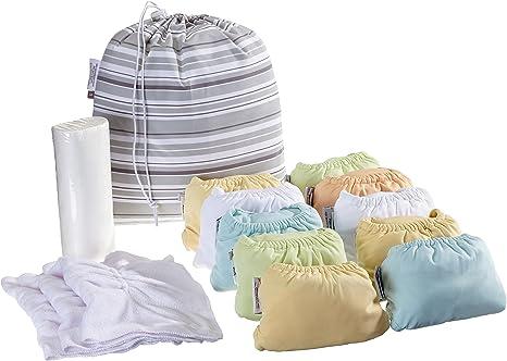 Cerrar Pop-322900 en panales de tela - Bambu y Minky - Pastel - Box Media - 10-Pack: Amazon.es: Bebé