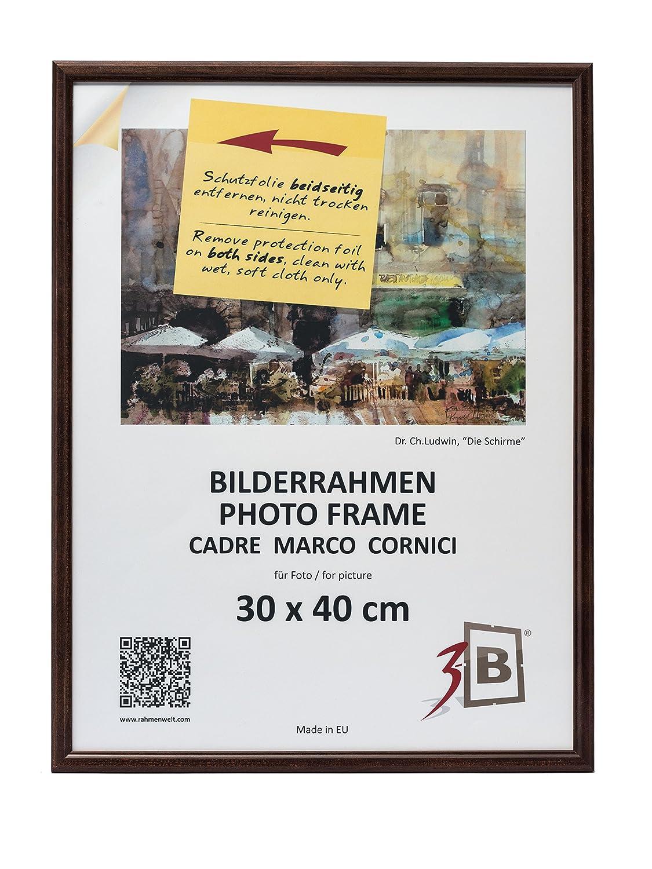 3-B Set 2 STK. - Bilderrahmen JENA - dunkel braun - 30x40 cm ...