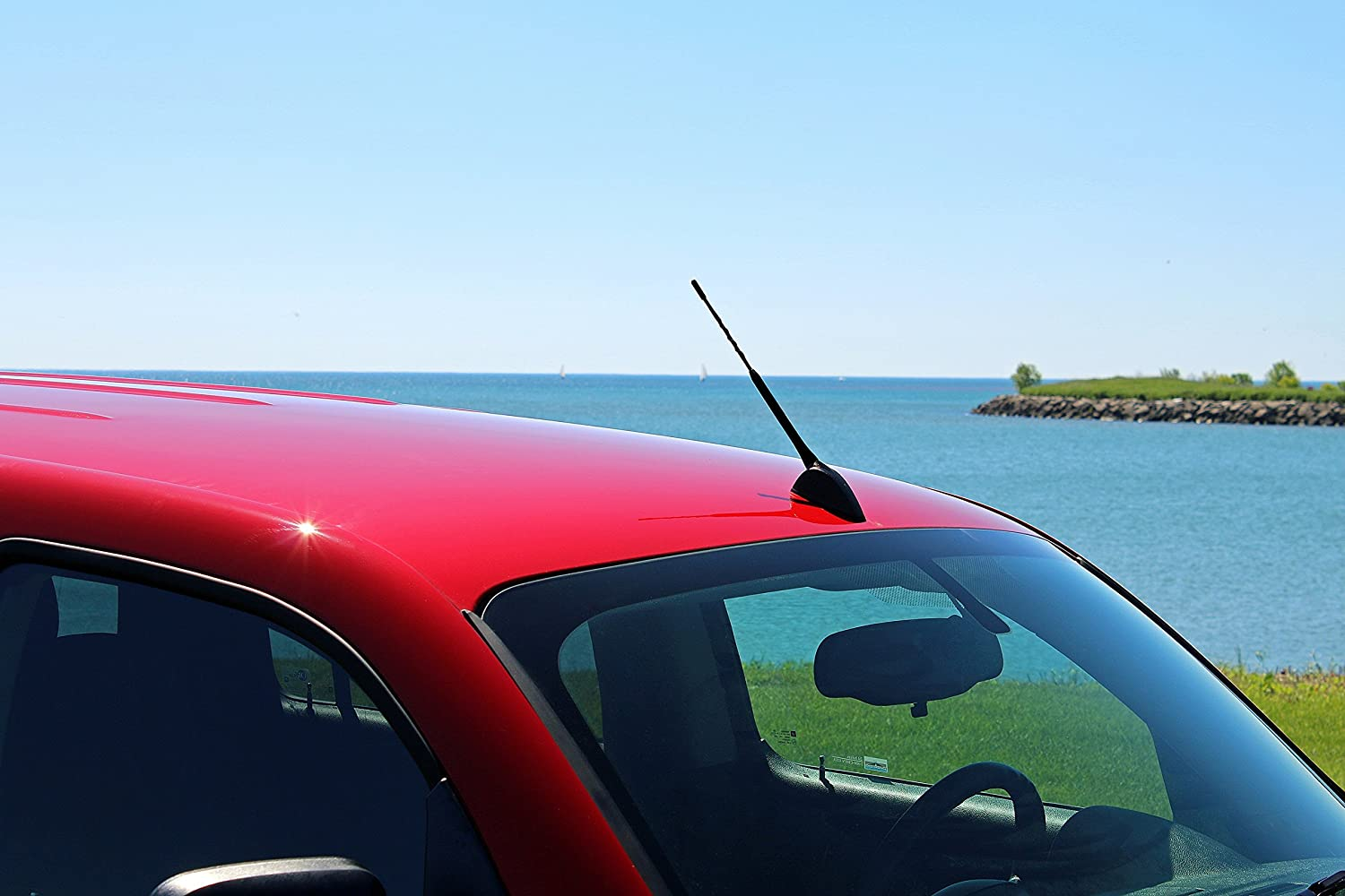 Reception Guaranteed 2011-2016 German Engineered - Short Rubber Antenna Internal Copper Coil The Original 6 3//4 INCH is Compatible with Lexus CT200H AntennaMastsRus