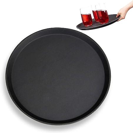 Gastro Tablett rund 35 cm Serviertablett Servierplatte Bartablett Gläsertablett