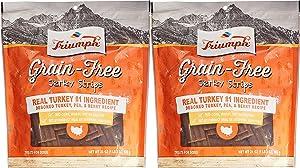 Triumph Dog Turkey, Pea, & Berry Grain Free Jerky, 2 Pack(24 oz) RCVNM