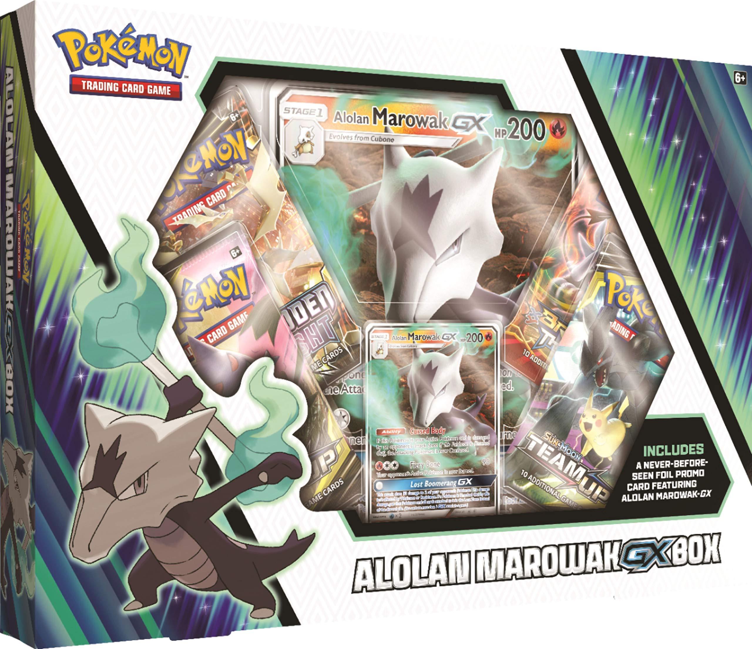 Pokemon Cards TCG: Alolan Marowak-GxBox + 4 Booster Pack + A Foil Promo Card + A Foil Oversize Card by Pokemon Cards