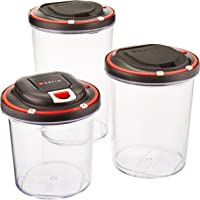 Set of 3 Vestia Auto Vacuum Sealing Food Storage Container with Motor