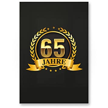 DankeDir!. 65 años Oro, plástico Cartel - Regalo Cumpleaños ...
