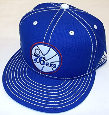 fb04d5ceb90 Image Unavailable. Image not available for. Color  NBA Philadelphia 76ers  Flat Bill Fitted Adidas ...