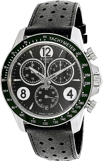 TISSOT V8 RELOJ DE HOMBRE CUARZO 42.5MM CORREA DE CUERO T106.417.16.057.00: Amazon.es: Relojes