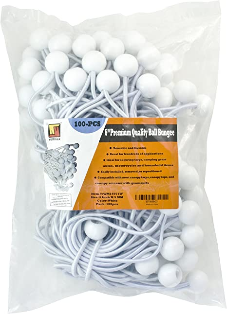 "ideal For Tarpaulin //tarp //bungee Cord 12 Piece 6/"" Ball Bungee Set"