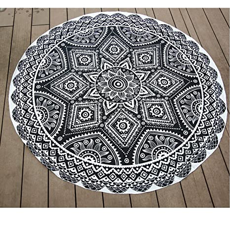 Toallas de playa, Charminer indio Ronda Mandala bohemio Tapiz Hippie manta Yoga Mat Toalla de