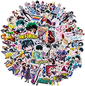 My Hero Academia Stickers, 143 PCS Waterproof Anime Stickers Collectibles Car Snowboard Bicycle Luggage Pad MacBook Water Bottle Skateboard Cool Stickers for Laptop Anime Lover Gift