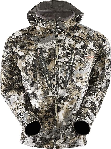 SITKA Gear Men's Stratus Windstopper Water Repellent Ultra-Quiet Fleece Hunting Jacket with Removable Hood