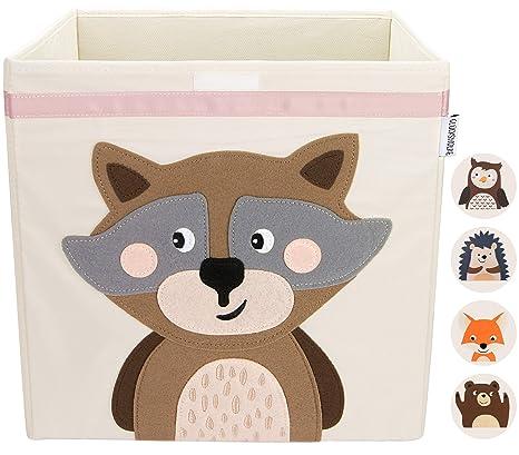 GLÜCKSWOLKE Kinder Aufbewahrungsbox I Spielzeugkiste mit Deckel und Griffe  für Kinderzimmer I Spielzeug Box (33x33x33) zur Aufbewahrung im Kallax ...