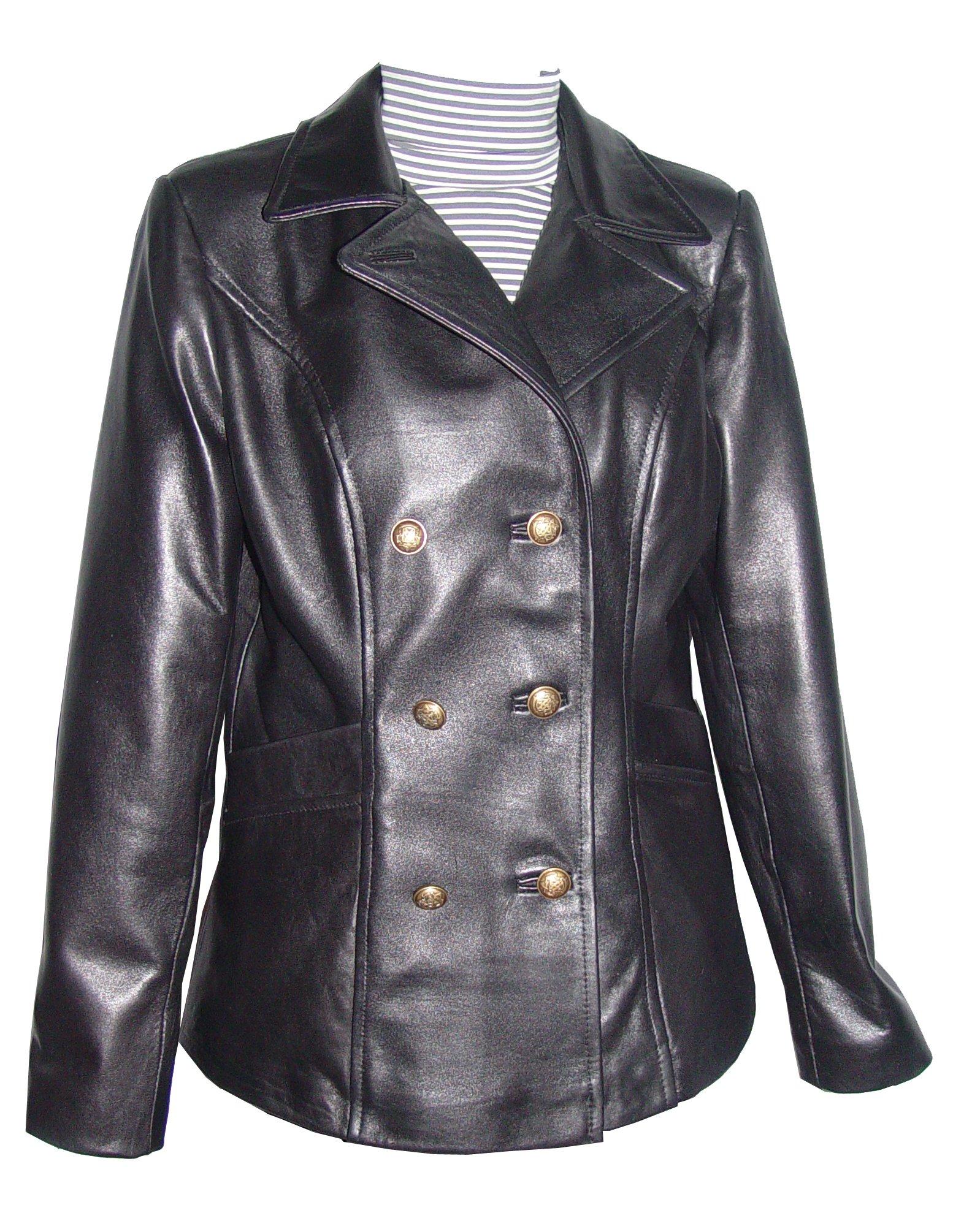 Nettailor Women PETITE & ALL SIZE Fashion 4101db Basic Lamb Leather Long Blazer