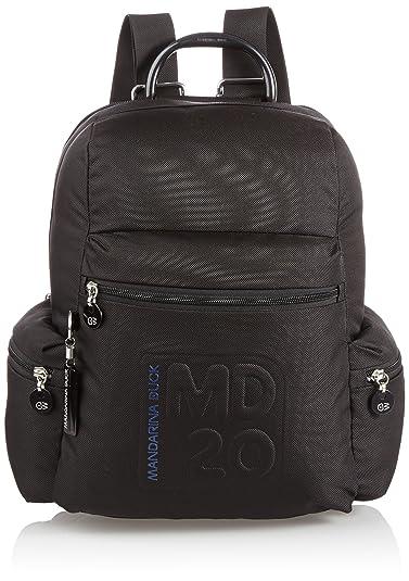 Damen Md20 Tracolla Rucksackhandtasche, Schwarz (Black), 14x26x24 cm Mandarina Duck