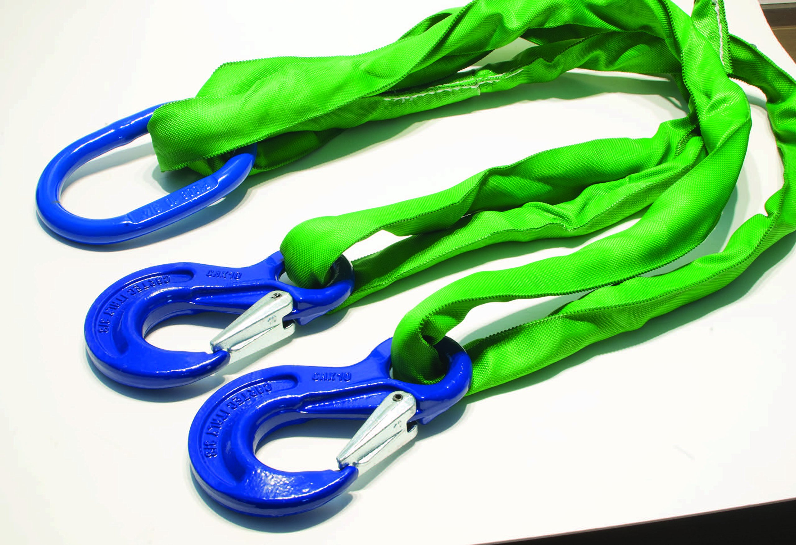 American Industrial / Polyester Round Sling Bridle - Green / 8 Ft. Long / DOS-EN60 / 60 DEGREES: 9,100 LBS.