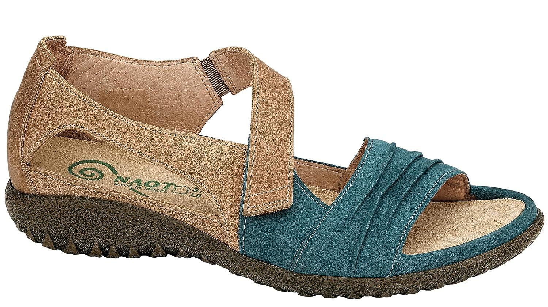 Naot Footwear Women's Papaki B010AY1H34 37 M EU / 6 B(M) US|Teal Nubuck/Latte Brown Leather