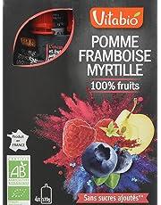 Vitabio Gourde Pomme Framboise Myrtille 480 g - Lot de 3